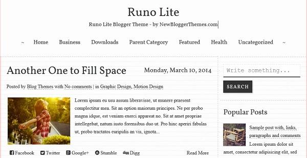 Runo Lite Blogger Template