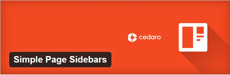 Simple Page Sidebars