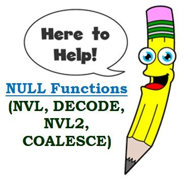 nvl, decode null functions