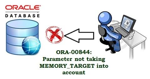 Ora-00844 Error