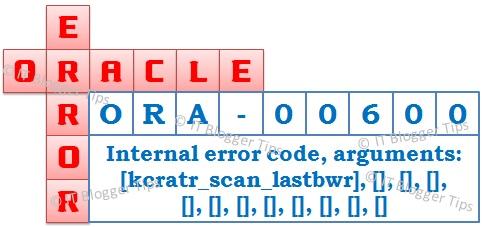 ORA-00600 internal error code