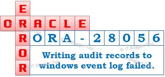 Ora-28056 event log failed