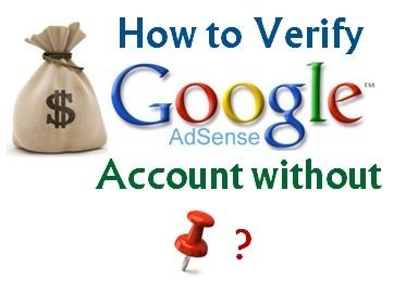 Verify Google Adsense Account without PIN