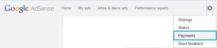 Google Adsense Settings Page