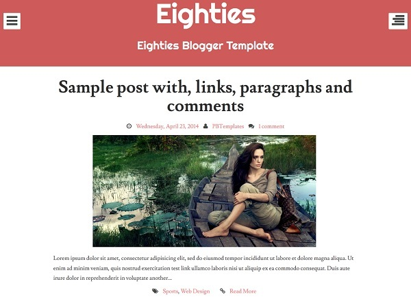 Eighties Blogger Templat