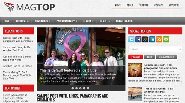 MagTop Blogger Template