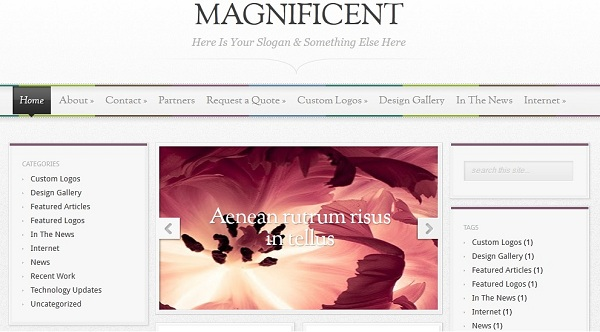 Magnificent Blogger Template