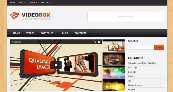 VideoBox Blogger Template