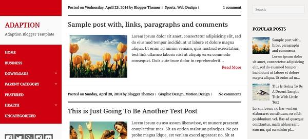 Adaption Blogger Template