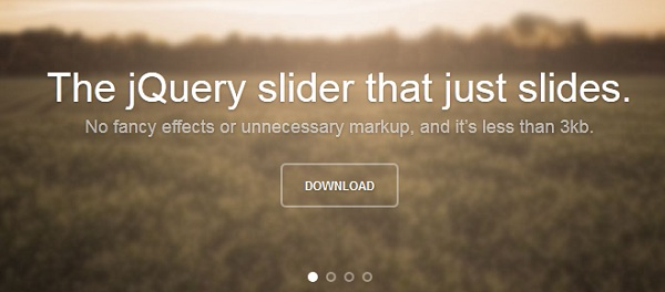 unslider – The jQuery slider that just slides